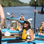 GVSU Students - Kayaking on the Grand River on April 22, 2021